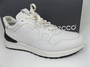 ECCO Men's Astir Athletic Sneaker, Size 43 US 9-9.5 M, White Leather. NEW  20236