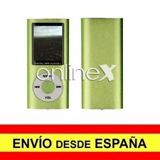 Reproductor Digital MP3/MP4 LCD Aluminio EBOOK / FM Multiformatos Verde a3089