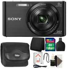 Sony DSC-W830 20.1MP Point and Shoot Digital Camera (Black) + 8GB Accessory Kit