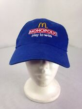 2012 McDonald's Monopoly Play To Win Employee Adjustable Velcro Hat