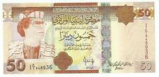2008 Libya Libye 50 Dinar Banknote P 75 Qaddafi Era (XF)