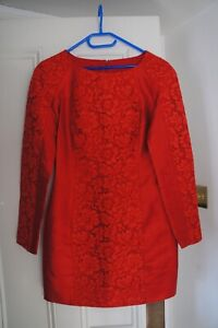 Valentino Red Silk Lace dress SZ IT 38 UK 6
