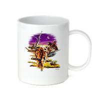 Coffee Cup Mug Travel 11 15 Oz Western Nature Longhorn Bull Rancher Cowboy
