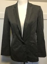 Ladies Zara Basic Classic Jacket Blazer Size S Grey EUC Business Work