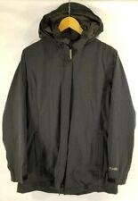 ExOfficio Women S Jacket Warm Winter Coat Brown Removable Hood Pocket Long Vent