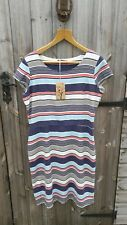 WOMEN'S LILY & ME UK 16 BNWT MULTI STRIPE ST. AGNES LINEN BLEND SHIFT DRESS