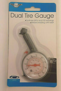 NEW Auto Dial Tire Gauge For Cars, Trucks and Motorcycles Measures KPa and PSI