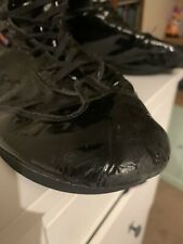 Mens Pro Wrestling Boots Rb Footwear Uk 15 Match Worn Shiny Leather Black