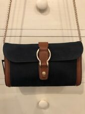NEW W/ Tags Massimo Dutti Purse Clutch Crossbody Black Suede Brown Leather