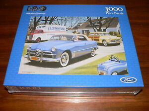 """F.X. Schmid """"Moving Day"""" Ford Motor Company 100 Years 1,000 Pc Jigsaw Puzzle~New"""