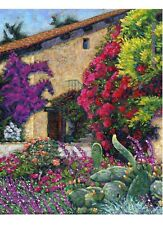 COLOR PRINT OF OIL PAINTING, CALIFORNIA MISSION #1