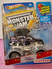 2013 Monster Jam Special Holiday Ed MOHAWK WARRIOR~Purple Truck w/snow~HotWheels