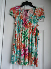 Daisy Fuentes Wonder Wall Top Paradise Blue Combo Color Size: Small NWT