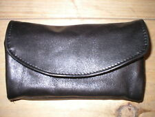 New Handmade Womens Leather Clutch Wallet Made in USA Black Brown Burgundy Tan