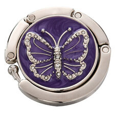 Purple Butterfly Purse Handbag Hook Folding Hanger LW
