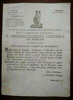 S1984-REPUBBLICA CISALPINA, FORLI',CIRCOLARE PER RAVENNA,NATURA FINANZIARIA,1799