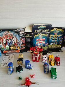 Lot Vintage Bandai Power Rangers Zeo Rescue Zords Boxes Megazord Parts Mixed