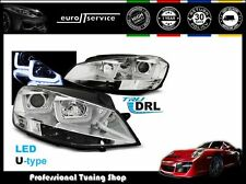 FARI ANTERIORI HEADLIGHTS LPVWK5 VW GOLF VII 2012 2013 2014 2015- U-TYPE CROMO