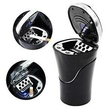 Portable Car Travel Cigarette Cylinder Smokeless Ashtray Holder Cup w/ LED Light