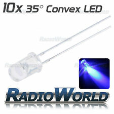 10x 5mm Ultra Bright Clear LED Diode 3.4v Blue Light Emitting Diode 35°