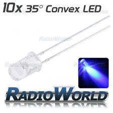 10x 5mm Ultra Bright Clear LED Diode 3.4v Blue Light Emitting Diode 35°