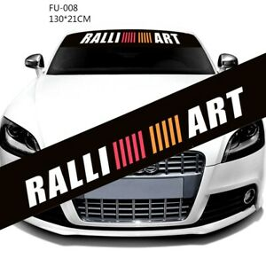 1Pcs Ralliart Racing Decals Auto Front Windshield Black Modified Sports Sticker