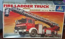 Italeri 1/24 Scale Fire Ladder Truck (Iveco Magirus KLK 23-12) Model Kit 784