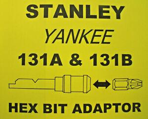 "131B  STANLEY YANKEE SCREWDRIVER - 1/4"" HEX BIT ADAPTER ADAPTOR HOLDER"