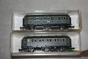 Minitrix Wagenset 2tlg 51 3160 00 13160 Personenwagen K.Bay.Sts.B.