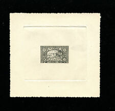 Morocco 1954 Horses Communications Stamp Day Scott B42 Sunken Die Artist Proof