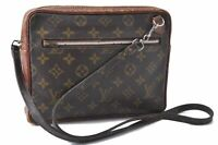 Authentic Louis Vuitton Monogram Brown Shoulder Bag Old Model LV B9185