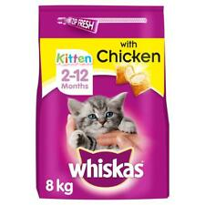 More details for 8kg whiskas 2-12 months kitten complete dry cat food with chicken (4 x 2kg)