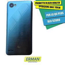 LG Q6+ PLUS RICAMBIO RETRO GUSCIO BACK COVER COVER POSTERIORE BLU SCURO
