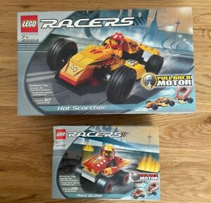 Lego Racers 4584 - Hot Scorcher & 4582 - Red Bullet Brand New Boxed