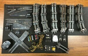 American Flyer S Gauge Track LOT 34 Curves 28 Straights 2 Lock ons, switches etc