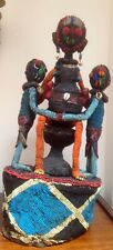 Exceptional ATQ/VTG Beaded Yoruba African Ceremonial Crown Rare Mother +2 Kids