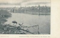 PITTSTON PA - Susquehanna River showing Pittston In The Distance -udb (pre 1908)