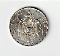 5 francs 1856 A Napoléon III tête nue - F.330/6 / KM 782.1 - TTB+