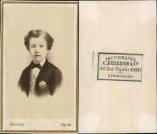 Neurdein, Paris, Louis Napoléon Bonaparte, Prince Impérial Vintage albumen cdv p
