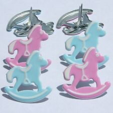 ROCKING HORSE  BRADS ** FREE SHIPPING OFFER ** 8 PCS * EYELET OUTLET** 2 COLORS