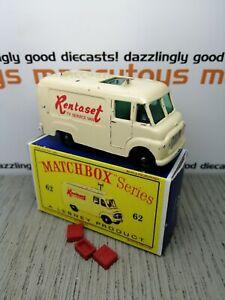 MATCHBOX Lesney No.62b Commer TV Rentaset Van 1963 original Vintage Diecast