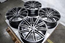 """18"""" Wheels Fit Mazda3 Eclipse Altima Maxima Sentra Accord Civic Black Rims 5 Lug"""