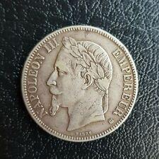 Moneta  Impero Francese Napoleone III 5 Franchi 1868 - Bella conservazione