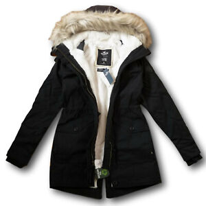NWT Hollister by Abercrombie&Fitch Women's Cozy-Lined Parka Faux Fur Jacket