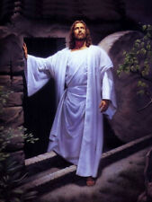 Hand Painted oil painting Christ Jesus - Resurrection of Christ at night canvas