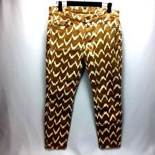 7 For All Mankind The Cropped Skinny Geometric Print Jeans Women's Sz 29 W2B