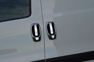 Chrome Door Handle Trim Set Covers & Surrounds To Fit Ram Promaster City (2015