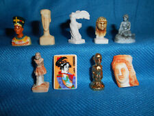 MINIATURE MUSEUM STATUES Sculptures Set 9 Mini Figurines FRENCH Porcelain FEVES