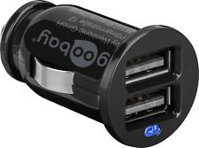 goobay Dual USB KFZ LKW Auto Ladegerät Zigarettenanzünder 12V / 24V > 5V 2,1A