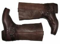 """"""" Sancho """" Uomo- Western- Boots / Biker- Stivali IN Dkl Braun Circa 41,5 - 42"""